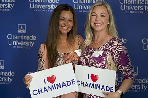Chaminade alums at the alumni reunion in 2019