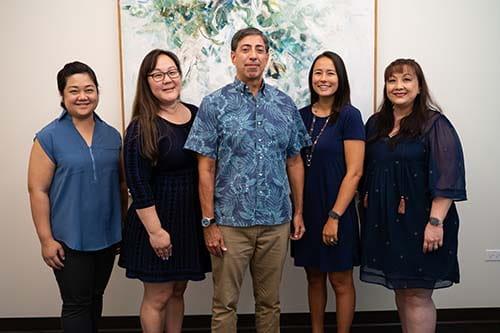 Chaminade's Advancement team photo