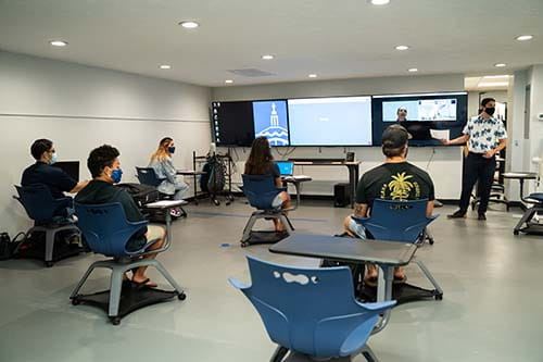 Data science students in classroom